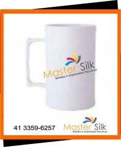 Caneca de chopp - Master silk - Copos Curitiba - branco