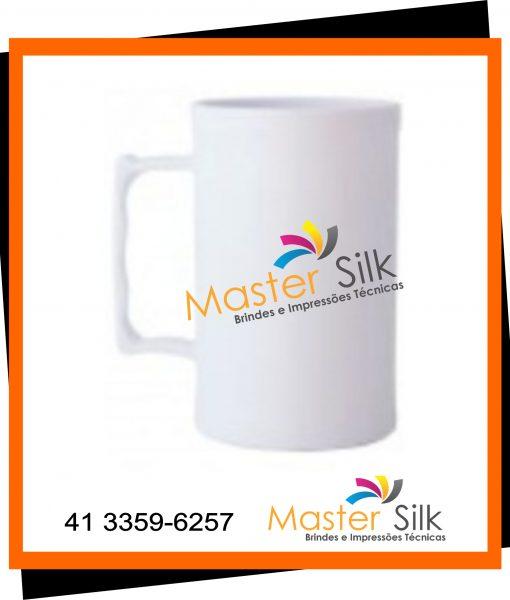 Caneca de chopp – Master silk – Copos Curitiba – branco