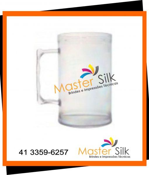 Caneca de chopp – Master silk – Copos Curitiba – cristal