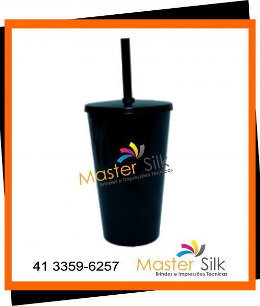 Copo Twister com Tampa – Master silk – Copos Curitiba – Preto