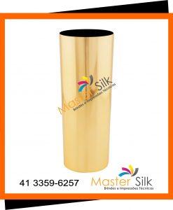 Copo long drink metalizado dourado - Master Silk