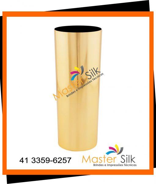 Copo long drink metalizado dourado – Master Silk
