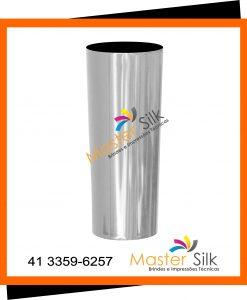 Copo long drink metalizado prata - Master Silk